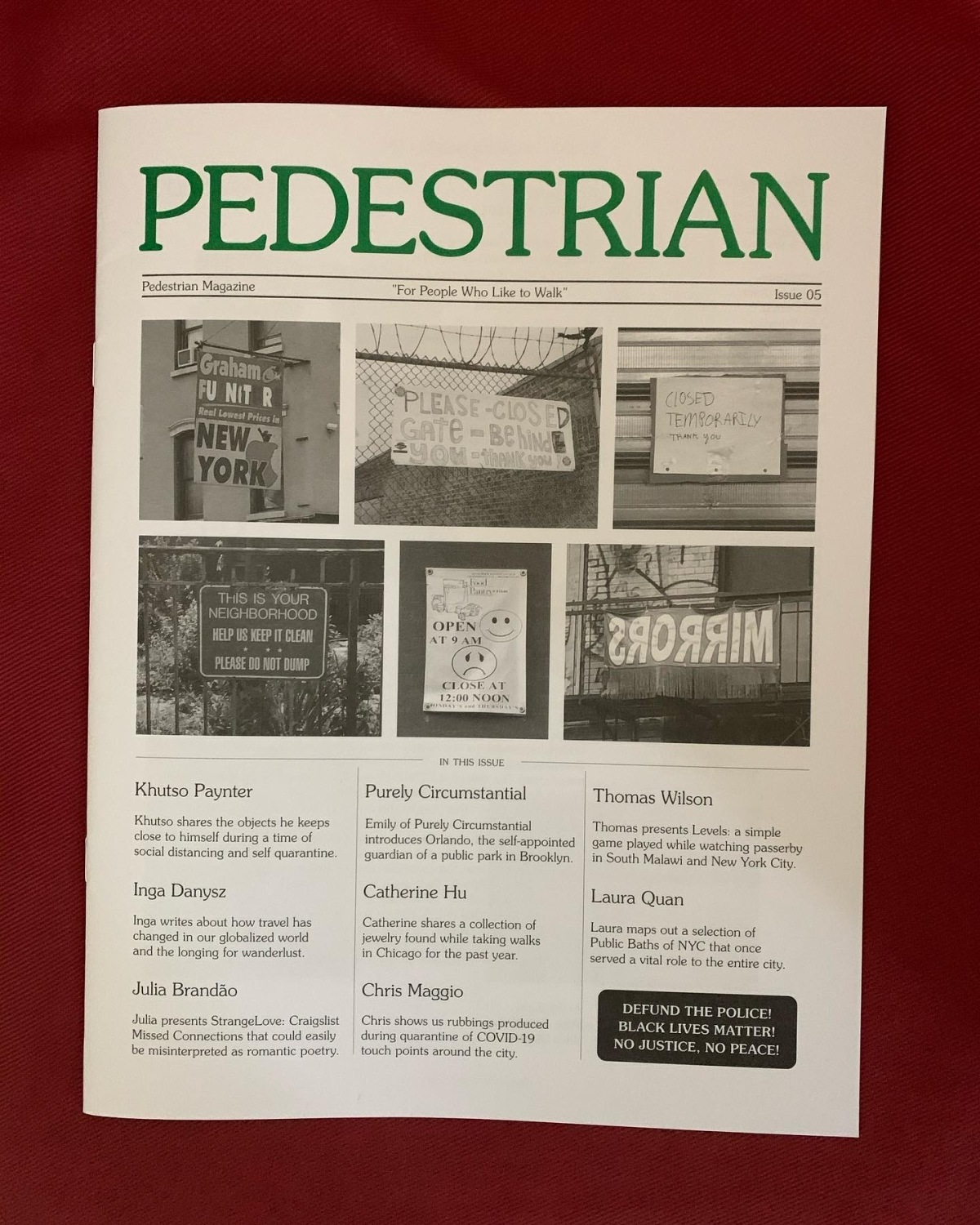 We're in Pedestrian Magazine